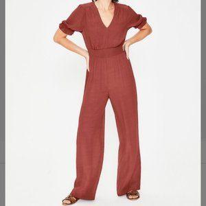 Boden Jasmine Jumpsuit Wide Leg 4R Rust Color NWT